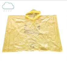 PVC logo printing easy carry foldable adults raincoat poncho