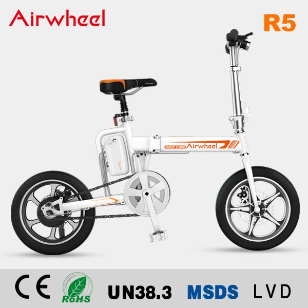 Hot sale e bike Airwheel R5 40KM pedal assisted 16inch folding electric bicycle