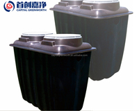 Package sewage waste water treatment plant for domestic waste water, 500L/Day