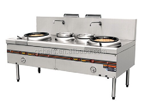 Chinese Cooking Range (2 Burners, 2 Rear Pots)