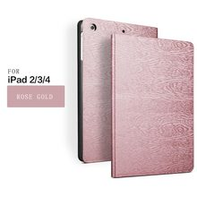 PU Leather Protective Smart Cover Case for apple ipad 2 3 4 tablet case with auto sleep and stand function