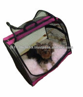 Pet carrier & bed (Pink)
