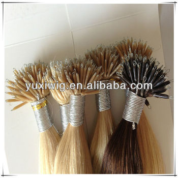 2013 new product!!! 100% human remy nano tip hair extension