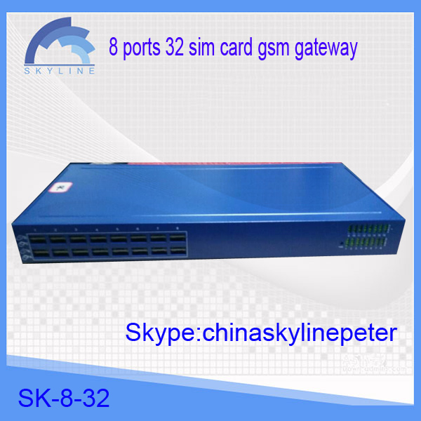sk 8 ports gsm gateway imei change call together 32 sim card gip 8-32