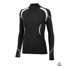 ladies sublimation printing black blank compression shirt