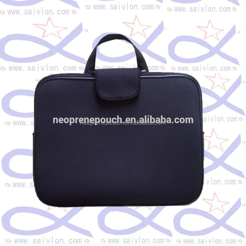 Black Neoprene tote laptop bag