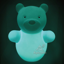 Blue Rechargeable Animal Bear Shape LED Kids Table Lamp