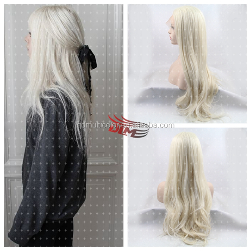Blonde Color Lace Front Body Wave Hair Synthetic Lace Front Wig Heat Resistant Full Blonde Body Wave Lace Front Wig