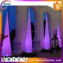 Customized inflatable event decoration/ cheap led air cone/ inflatable cone light