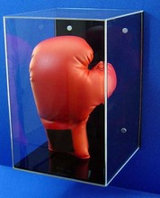 Wall Mounted Acrylic Glove Display Case Plexiglass Boxing Glove Show Case Shelf
