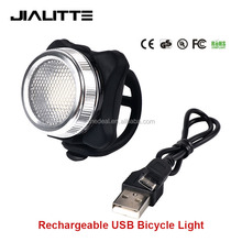 Jialitte B021 Rechargeable USB Red Blue COB 3W Led Bike light Bicycle taillight