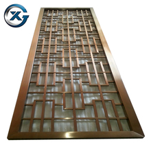 Custom design aluminum screen folding commercial room divider