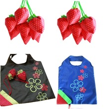 Strawberry Foldable Shopping Tote Reusable Eco Friendly Grocery Bag Carrier