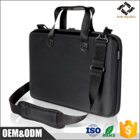 Multifunction laptop storage carrying messenger bag EVA protective notebook shoulder bag for business travel