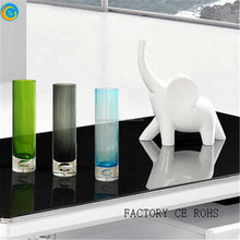 slim clear vase for decoration tall cylinder glass vase
