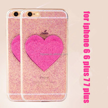 For iphone 6 6 plus 7 7 plus love style love heart glitter tpu cell phone case