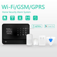 CE certification marked Russian/Spanish/French language supported security burglar alarm system !!2015 newest GSM WIFI alarm