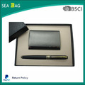 2017 Promotional Gift Items Notebook With Pen Business Card Holder Corporate Gift Set
