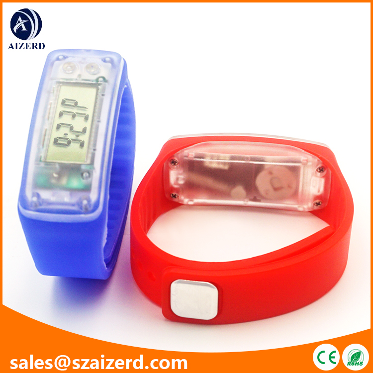 Silicone wristband kids pedometer Watch with Calorie Weight Individual Stride Distance Function