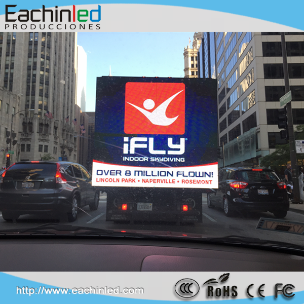 Outdoor p8 mobile advertising led screen /vehicle/van/trailer/ mounted truck led display