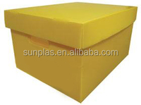 plastic packaging PP Corrugated Plastic Box with cover