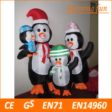 4 Foot Inflatable Snowmen Family Holding Gifts New Inflatable Snowman Family 1.2m Outdoor Christmas