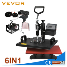 Popular 6 en 1 tshirt tapa taza imprenta heat press machine
