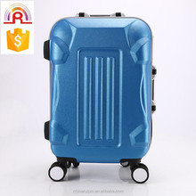 Royal blue color Armor shape ABS trolley luggage set 20 inch travel suitcase
