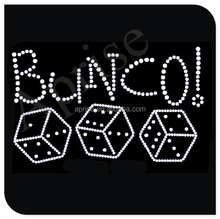 bunco dice rhinestone transfer iron on hotifx rhinestone motif