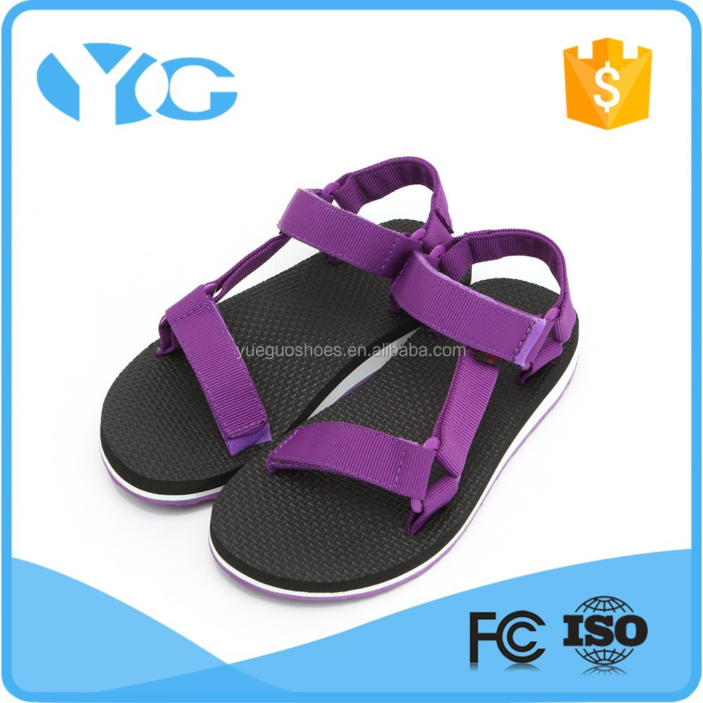 breathable and comfort eva midsole flat women sandals 2016