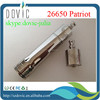 Factory price 26650 patriot clone stainless steel RDA 26650 patriot