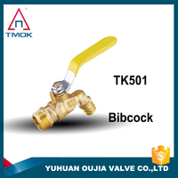 Portable butane gas stove valve with brass stem superior brass mini ball gas valve gas bibcock