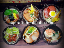 6 mixed designs for fake Japanese food model sample