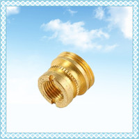 Shenzhen OEM customized non-standard CNC turning machining brass parts with micro drilling by central machinery lathe