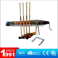 4 player & 6 player outdoor wood croquet game