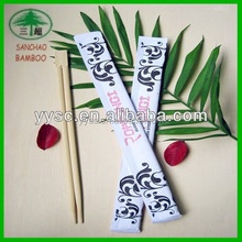 Chinese Natural Bamboo Disposable Chopsticks Customized Design Packing