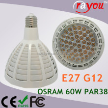5000LM osram led spotlight 50w, CE par38 led lights, par38 led dimmable for 100w tungsten bulb replace