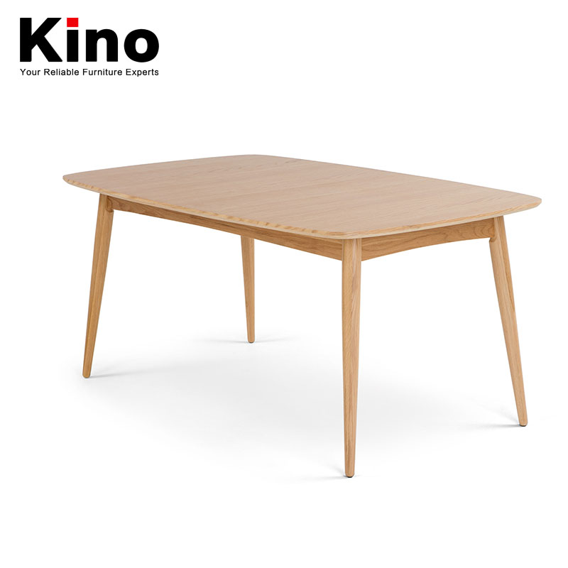 European white oak wooden household rectangle mensal chair modern contracted small family dining table