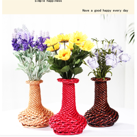Mordon style decoration wicker flower basket wicker flower vase