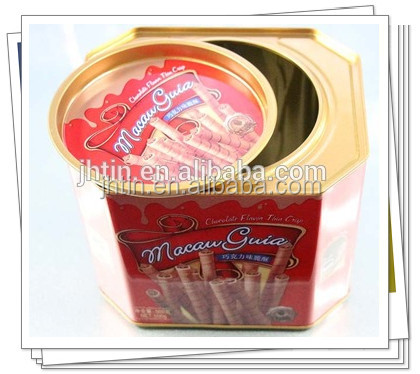 Alibaba China supplier octangle/rectangular packaging boxes cookie metal tin box