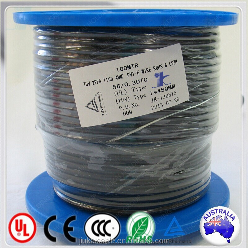 Australia Standard 100M/Plastic Drum PV1-F Twin DC Solar PV Cable 2x4mm2 Approved TUV TUV UL CE CSA VDE IEC Certification