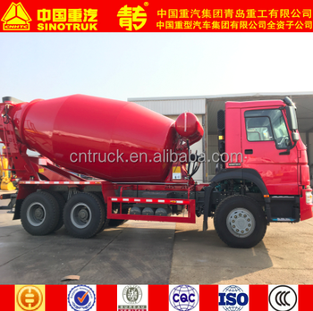 SINOTRUK HOWO 8 cubic meters concrete mixer truck cement mixer made in china with truck tire for sale