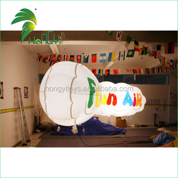 Durable Softy Promotion Decor Inflatable Cloud Ball / Stage Decoration Floating Cloud Shaped Balloon