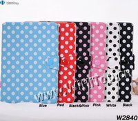 High Quality Cute Look Polka Dots Leather Stand Case with Wake-up & Sleep Function,Polka Dots Case for iPad Mini 7.9' Mix Colors