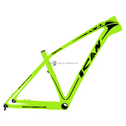 ICANBikes carbon hard tail mtb 27.5er mountain bike frame green color paint bsa bb92 available 15 17 19 size