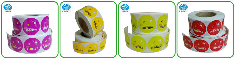 Custom gold foil label roll label with transparent material strong adhesive glue label