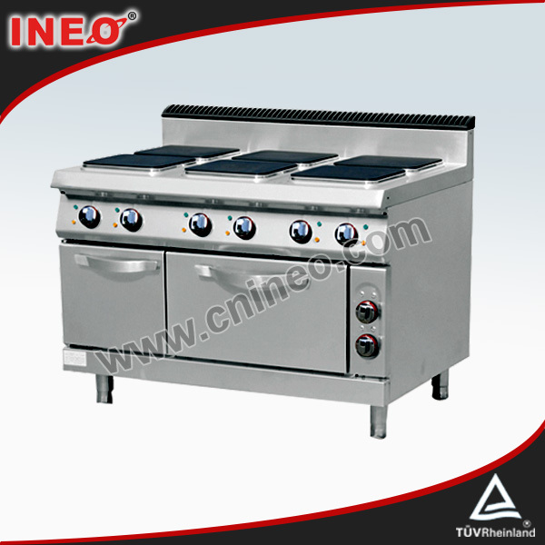 China Brand Stainless Steel Commercial Electric Range With Grill