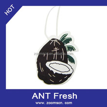 New product Customed shape and size hanging car paper air freshener