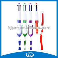 Plastic 4 Color Refill Red Blue Black Green Ink Ball Pen