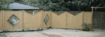 Bamboo Animal Garden Fence with Gate